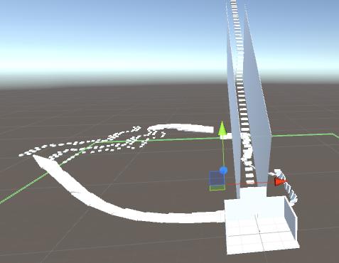 Le parcours 3D demandé dans le Cours Unity3D