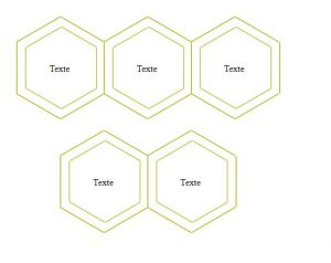 2 lines of hexagons with html and css