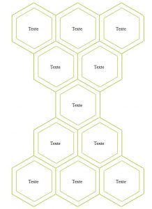 Multi lines of hexagons