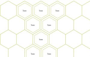 Near infinate honycomb layout of hexagons with html and css