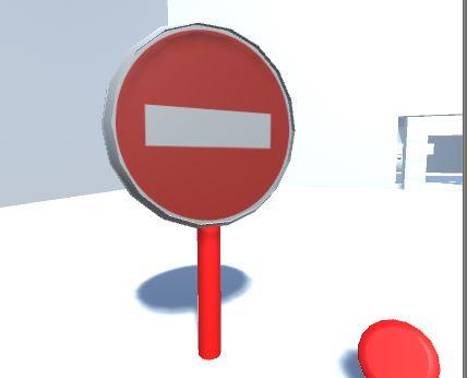 Vous ne passerez pas… Fbx panneau sens interdit